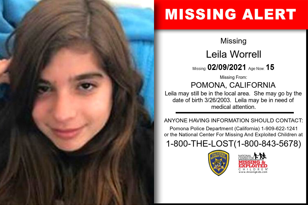 Leila_Worrell missing in California