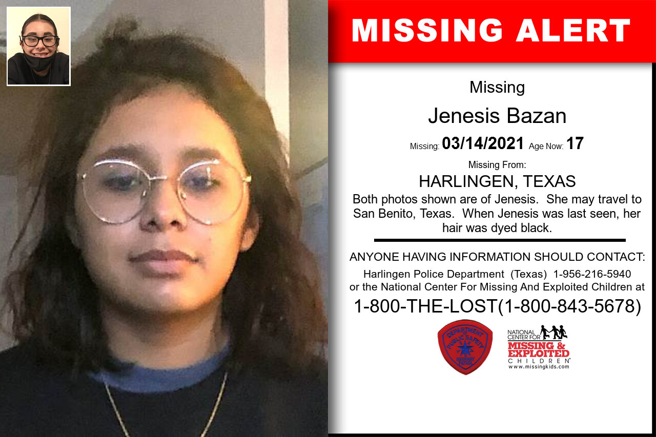 Jenesis_Bazan missing in Texas
