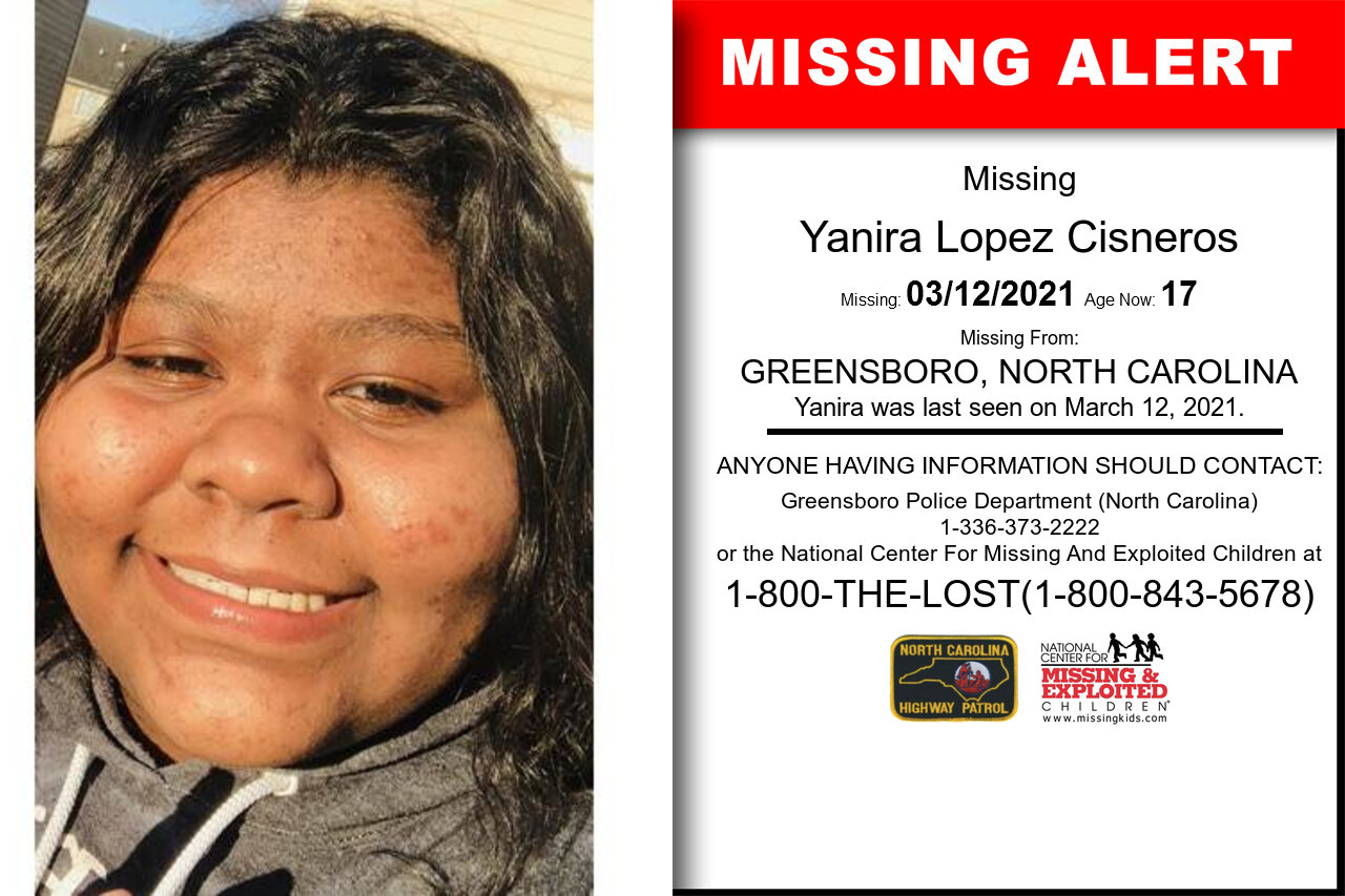 Yanira_Lopez_Cisneros missing in North_Carolina