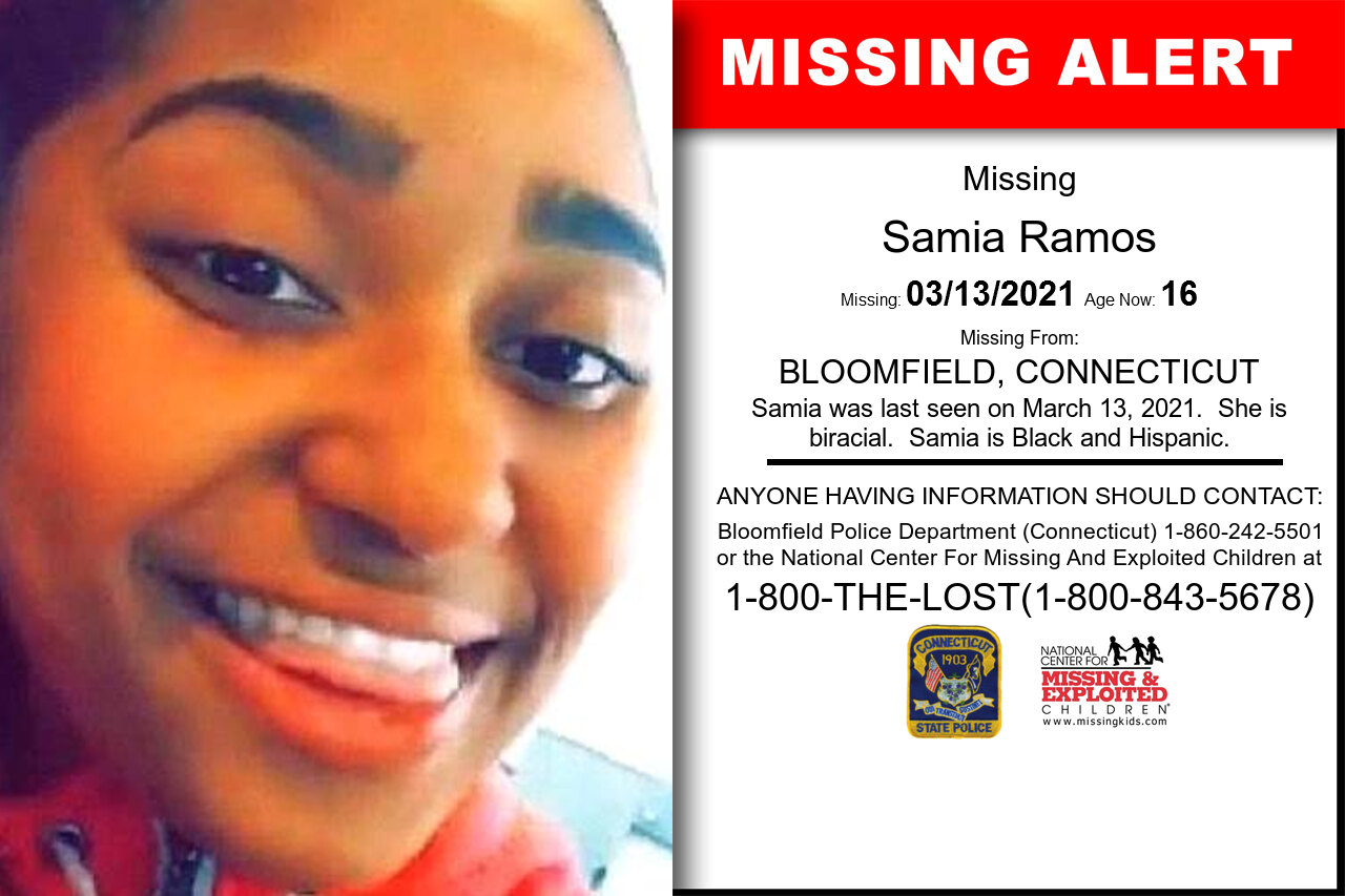 Samia_Ramos missing in Connecticut