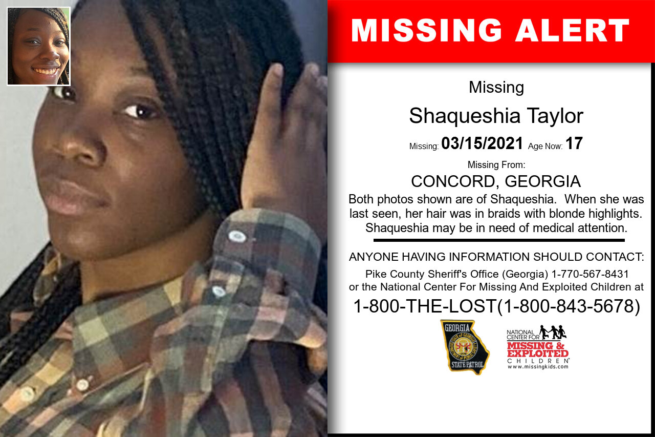 Shaqueshia_Taylor missing in Georgia