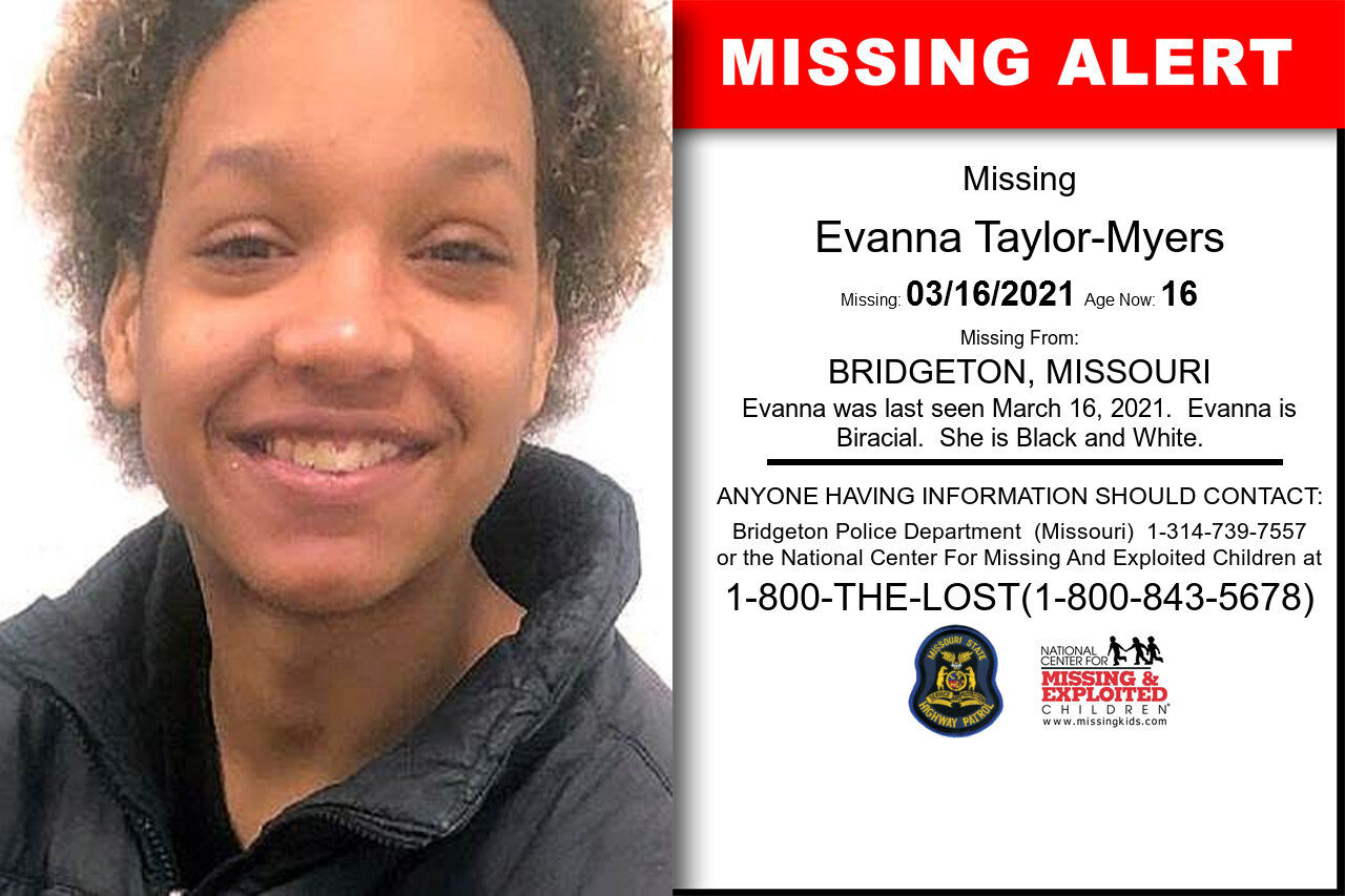 Evanna_Taylor-Myers missing in Missouri