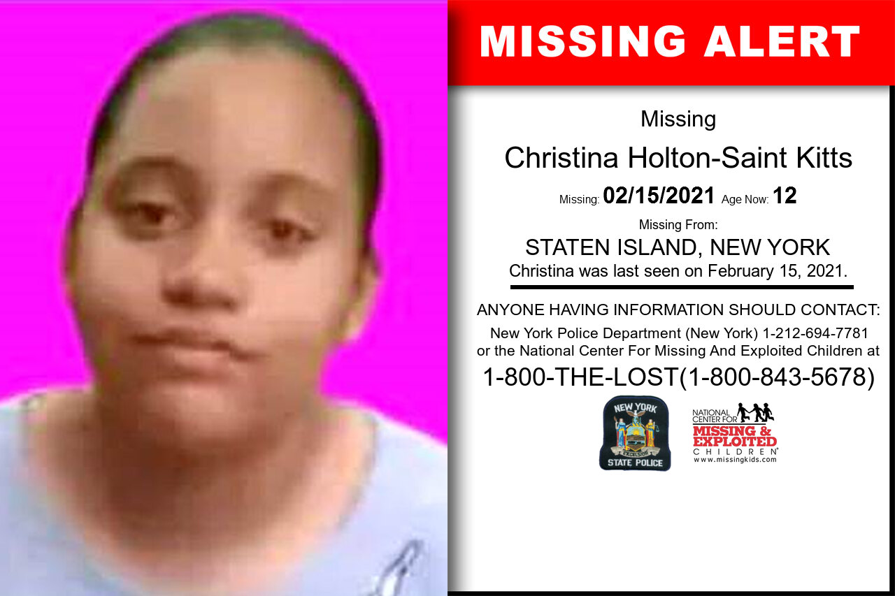 Christina_Holton-Saint_Kitts missing in New_York
