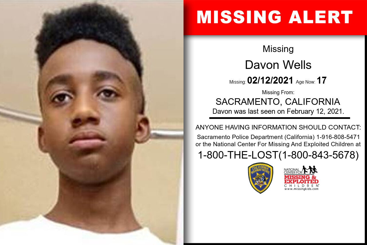 Davon_Wells missing in California