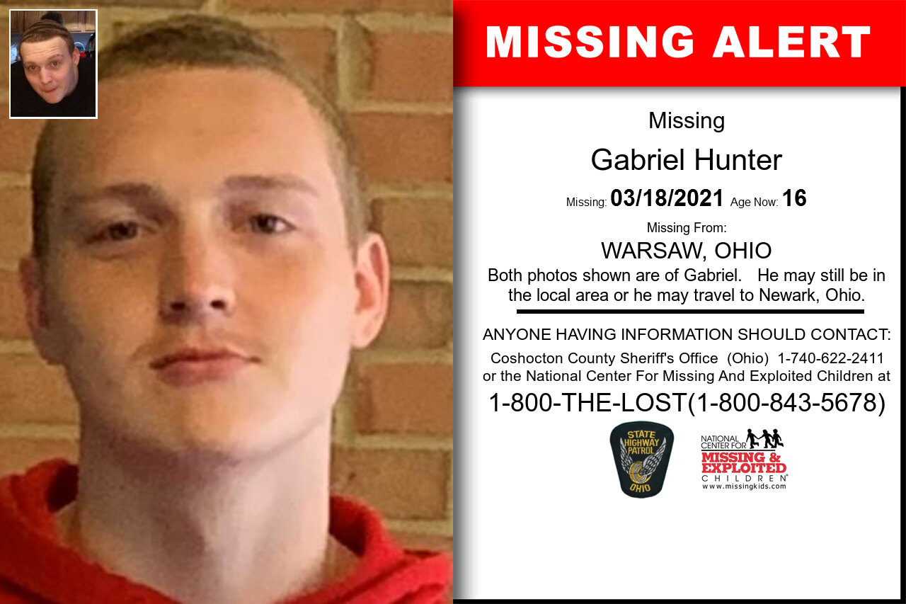 Gabriel_Hunter missing in Ohio