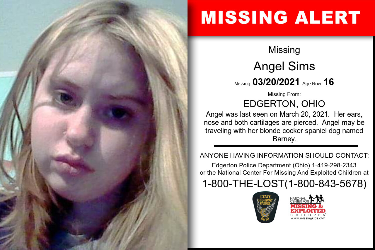 Angel_Sims missing in Ohio