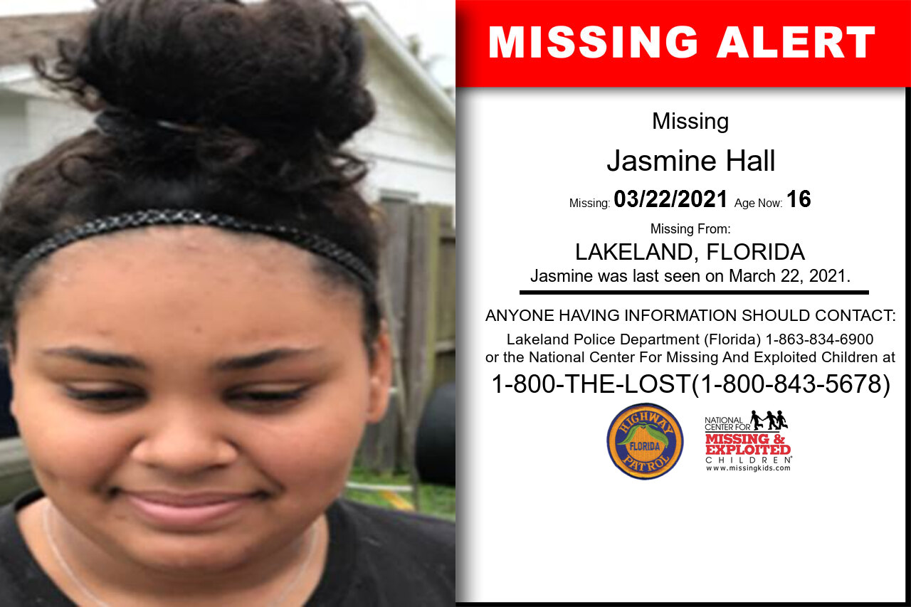 Jasmine_Hall missing in Florida