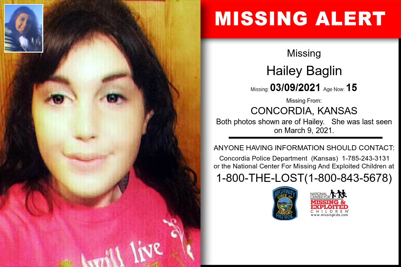 Hailey_Baglin missing in Kansas