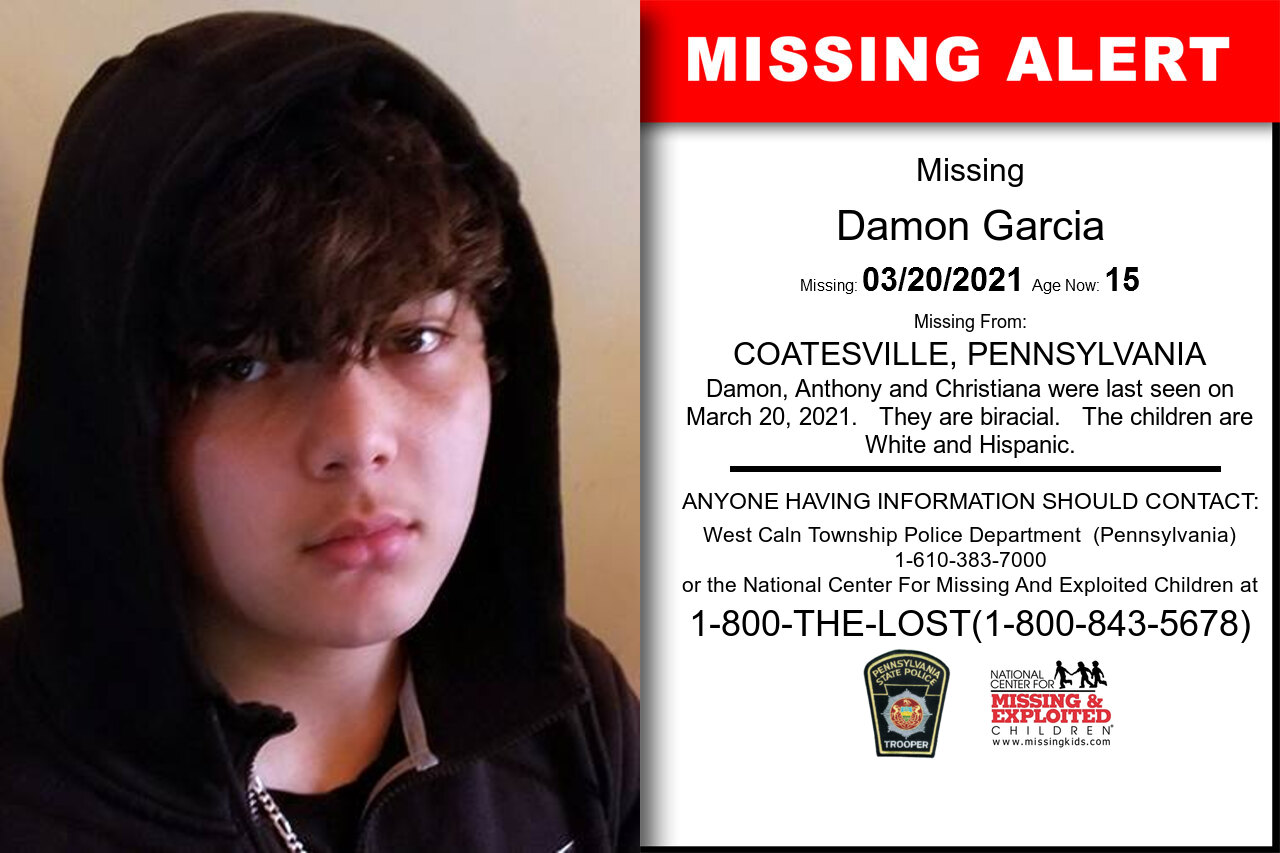 Damon_Garcia missing in Pennsylvania