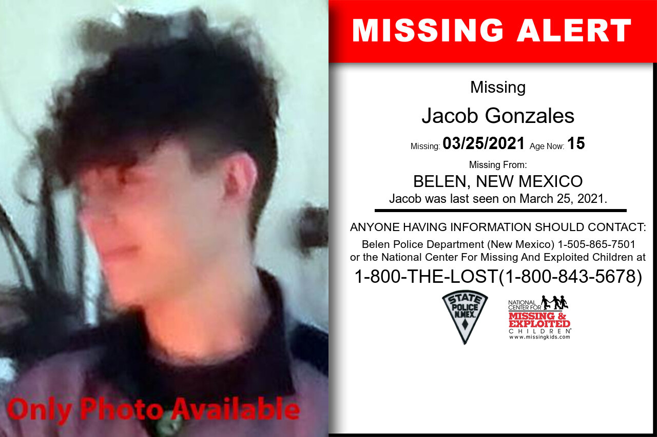 Jacob_Gonzales missing in New_Mexico