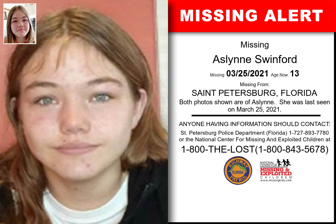 Aslynne_Swinford missing in Florida