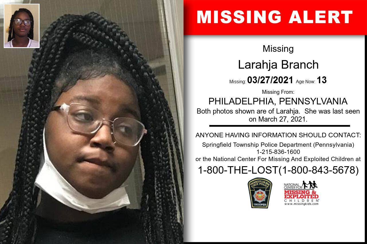 Larahja_Branch missing in Pennsylvania