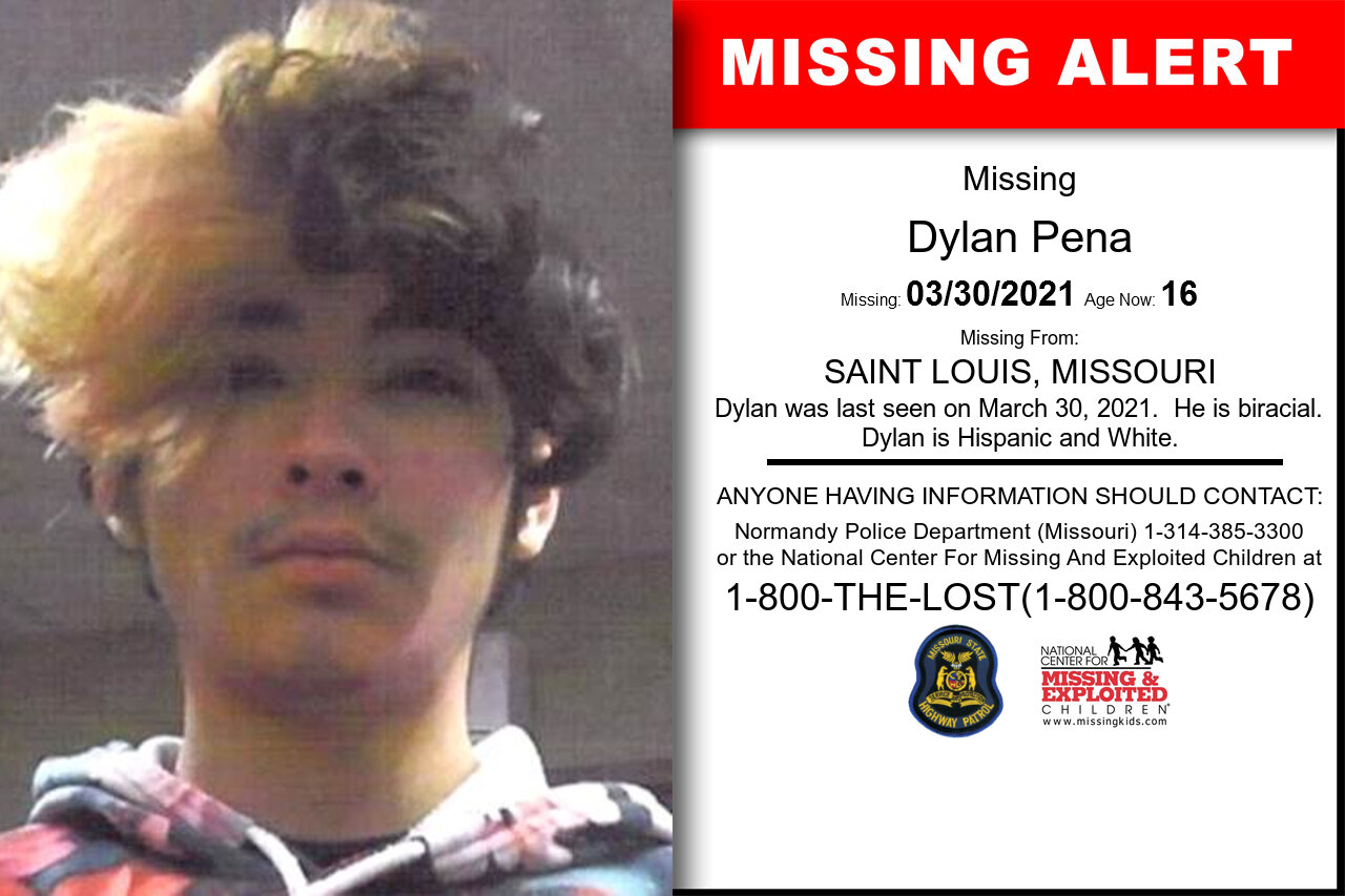 Dylan_Pena missing in Missouri