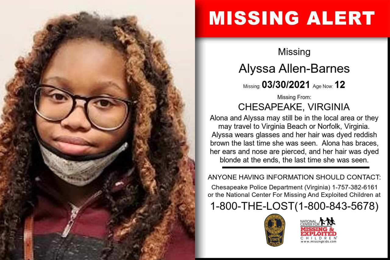Alyssa_Allen-Barnes missing in Virginia