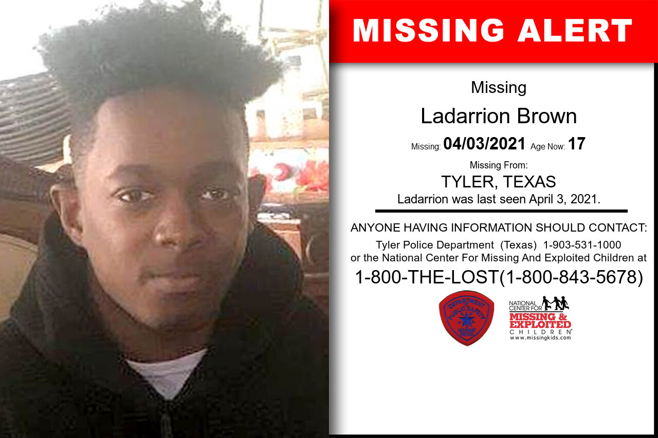 Ladarrion_Brown missing in Texas