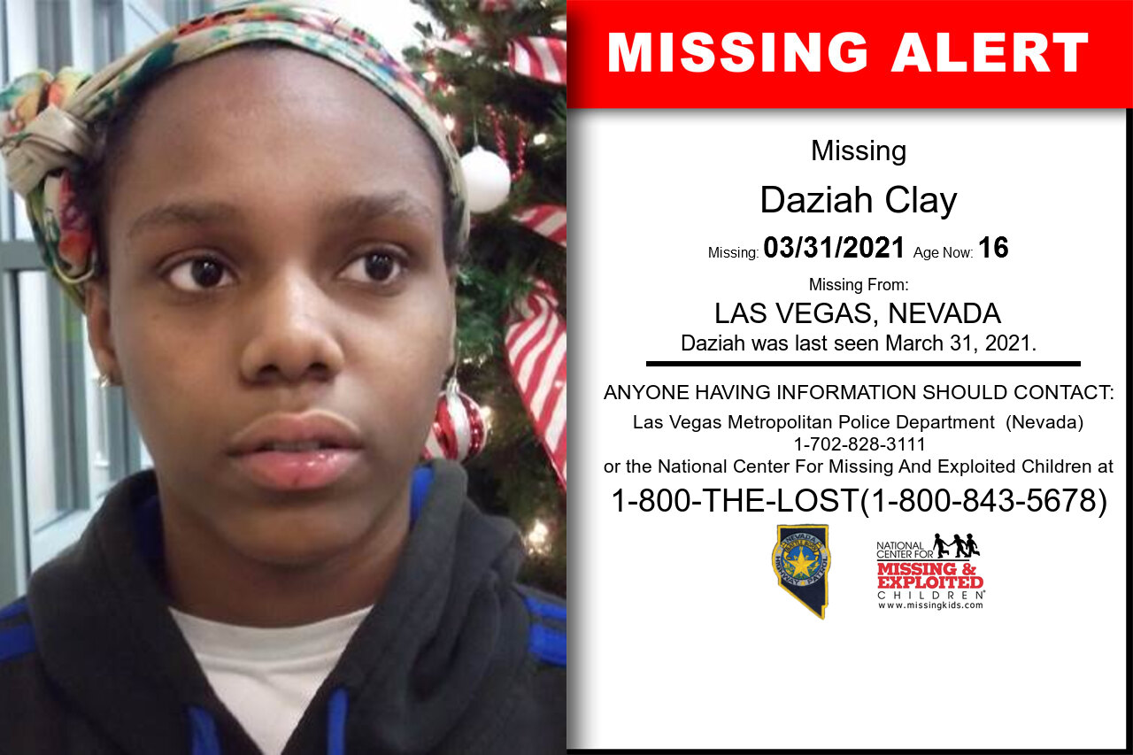 Daziah_Clay missing in Nevada