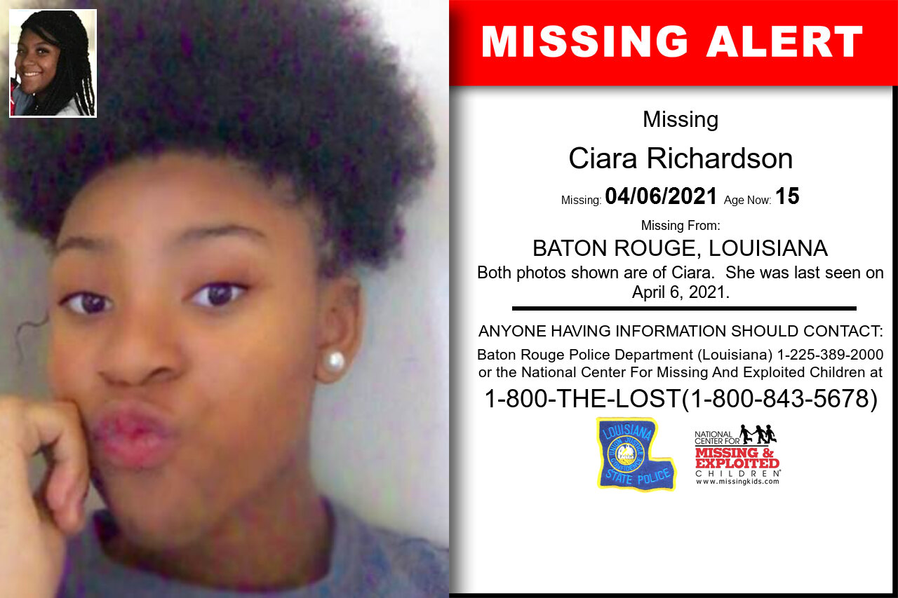 Ciara_Richardson missing in Louisiana