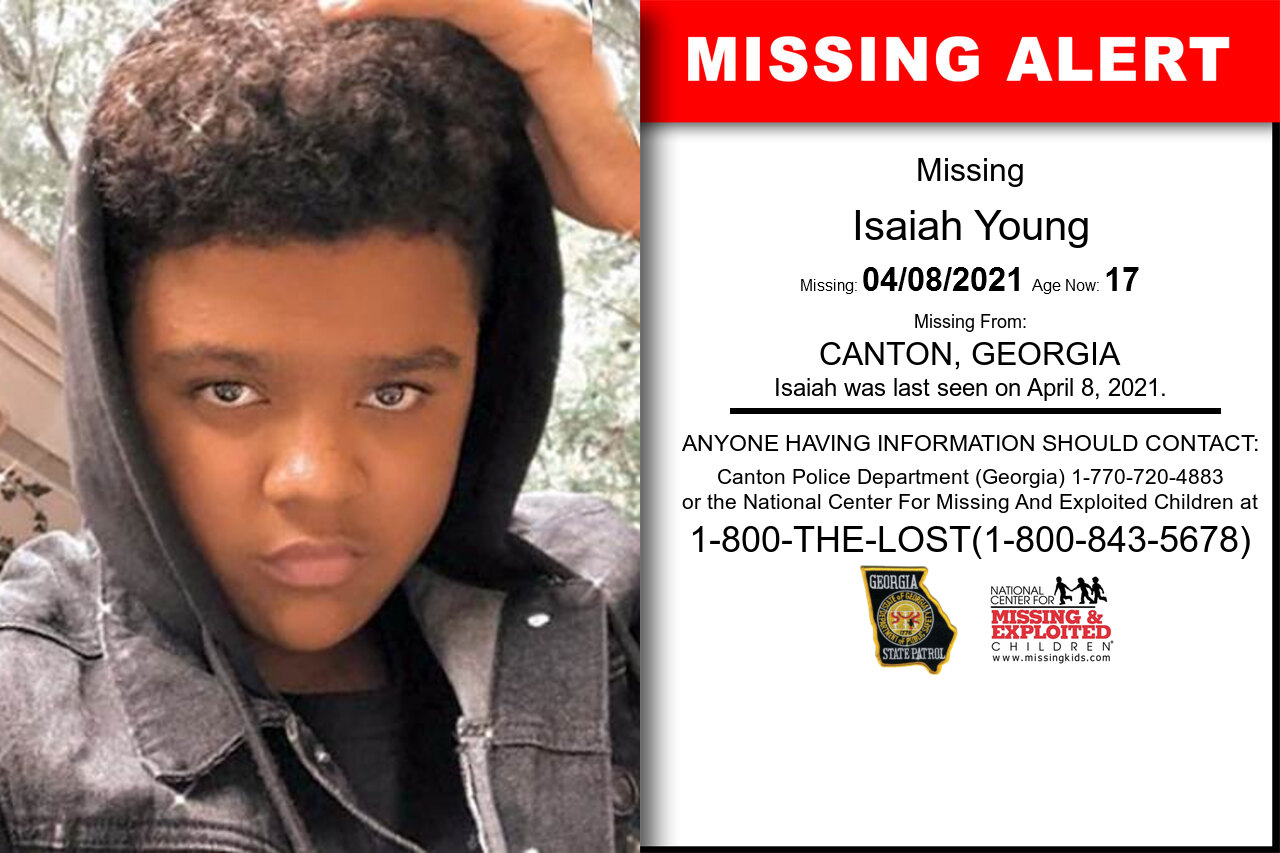 Isaiah_Young missing in Georgia