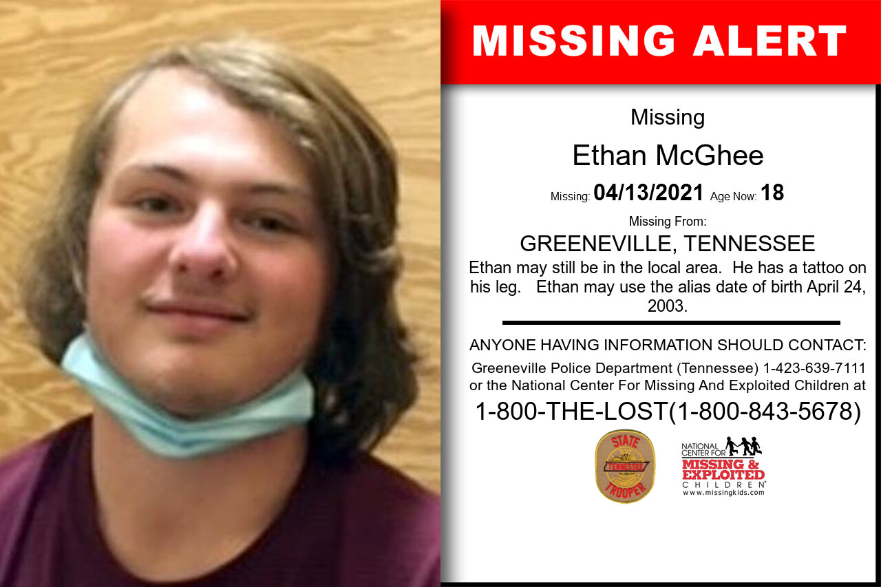 Ethan_McGhee missing in Tennessee