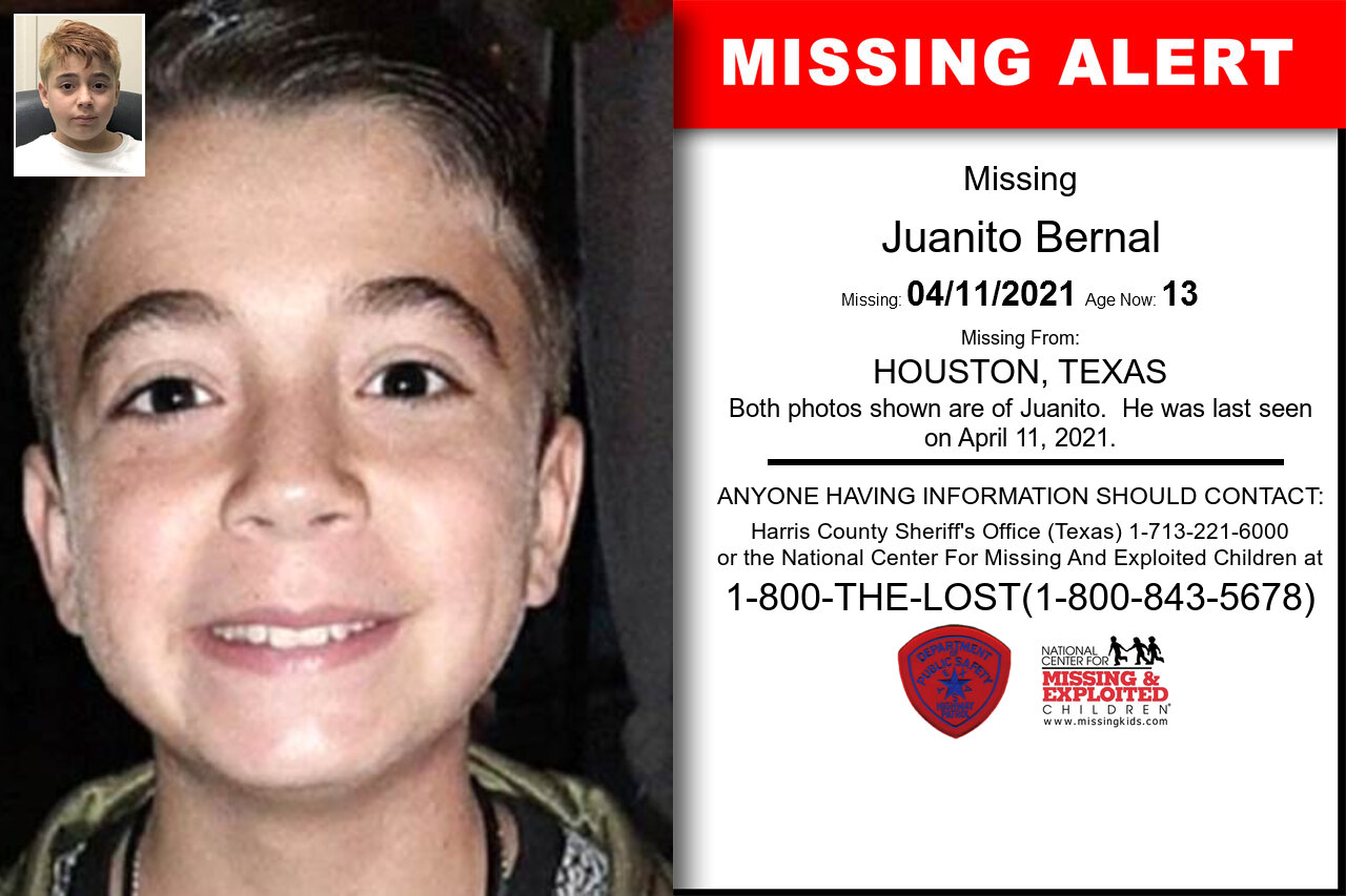 Juanito_Bernal missing in Texas