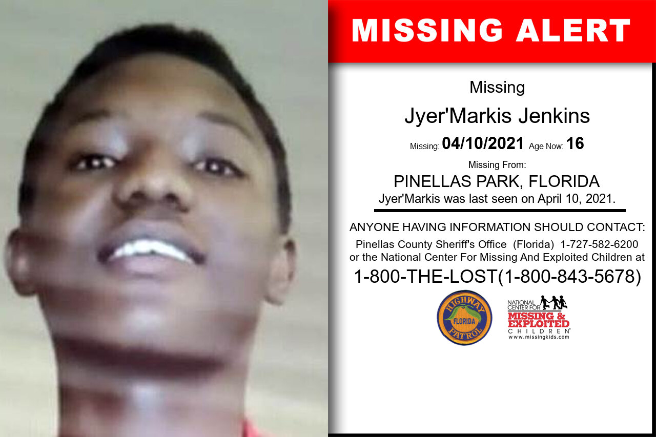 Jyer'Markis_Jenkins missing in Florida