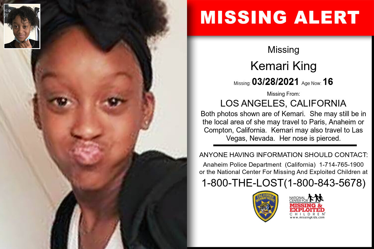 Kemari_King missing in California