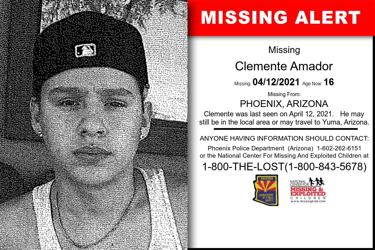Clemente_Amador missing in Arizona
