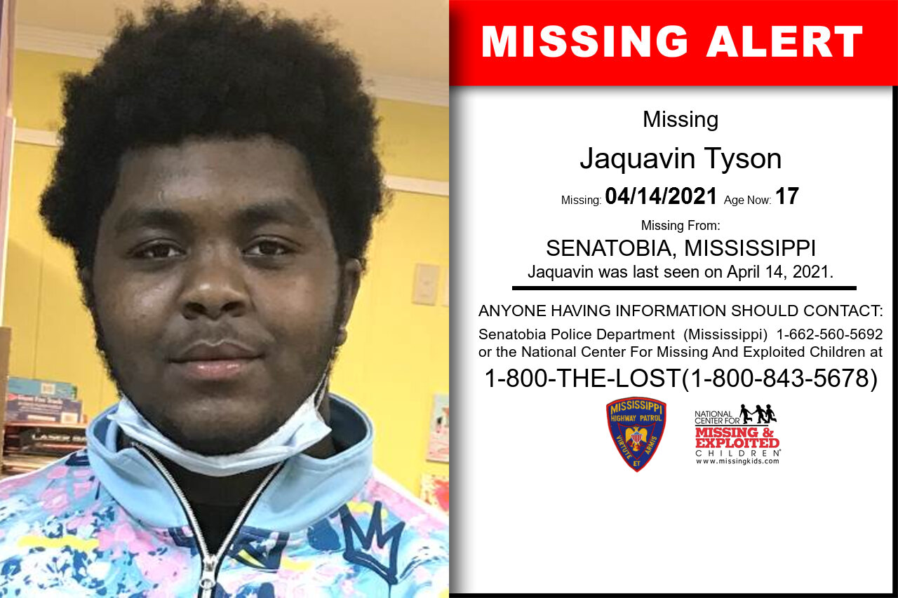 Jaquavin_Tyson missing in Mississippi