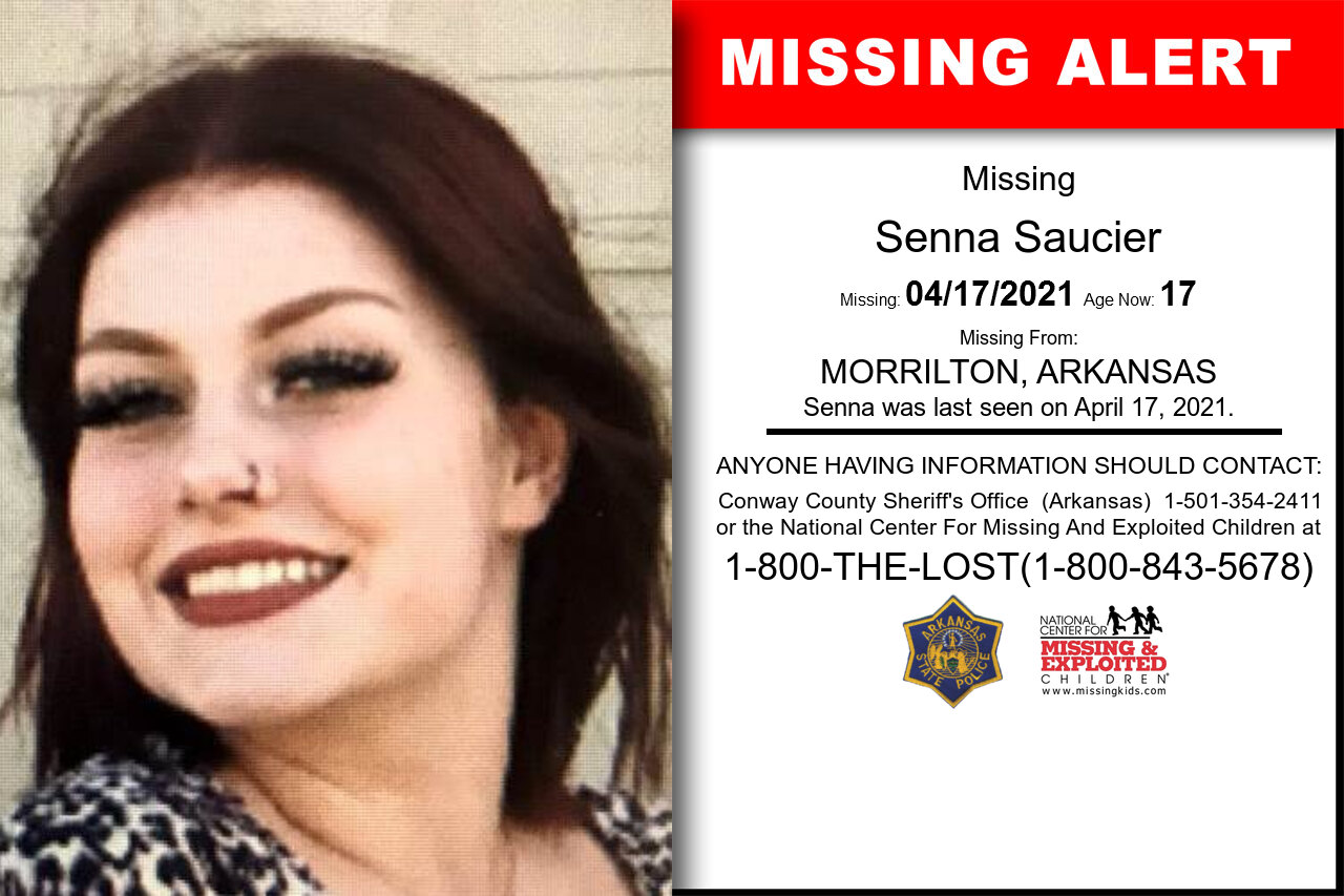 Senna_Saucier missing in Arkansas