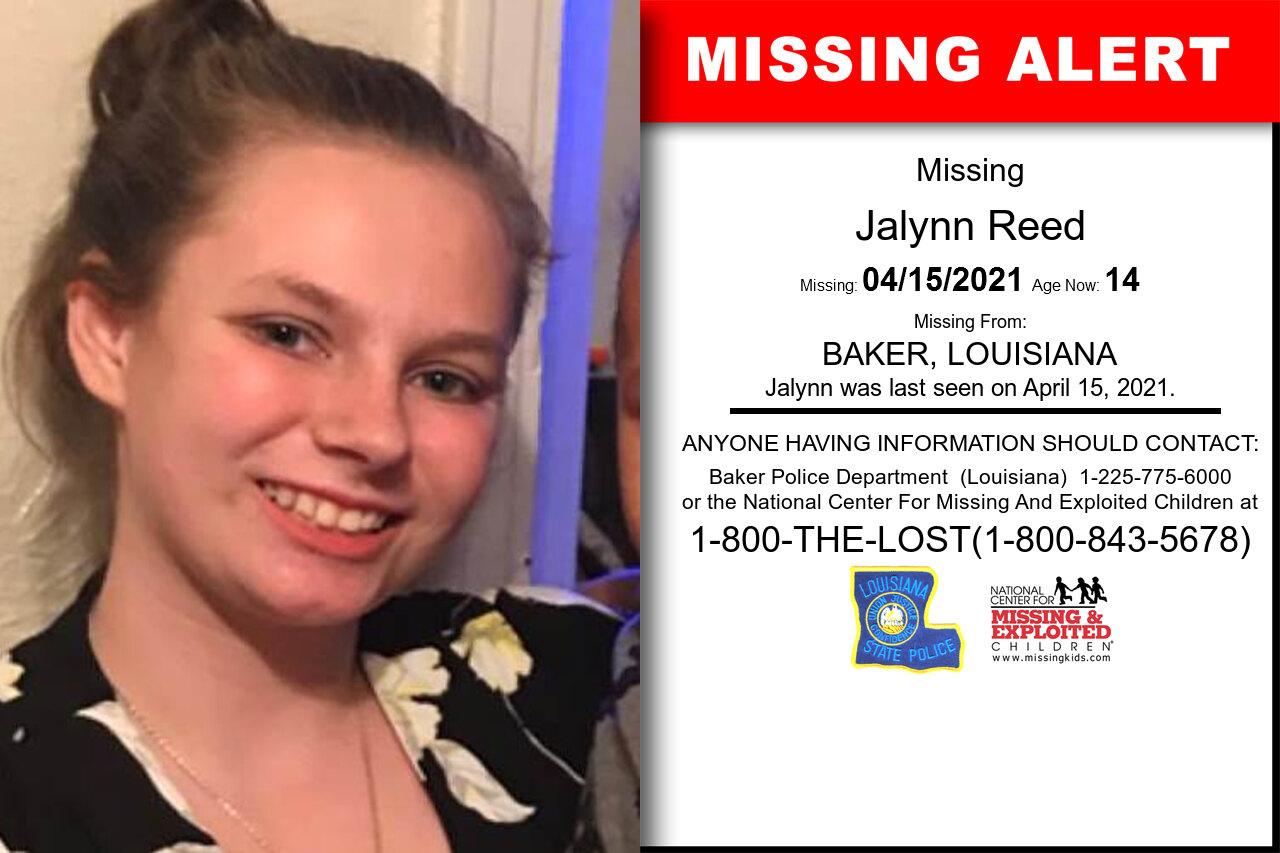 Jalynn_Reed missing in Louisiana