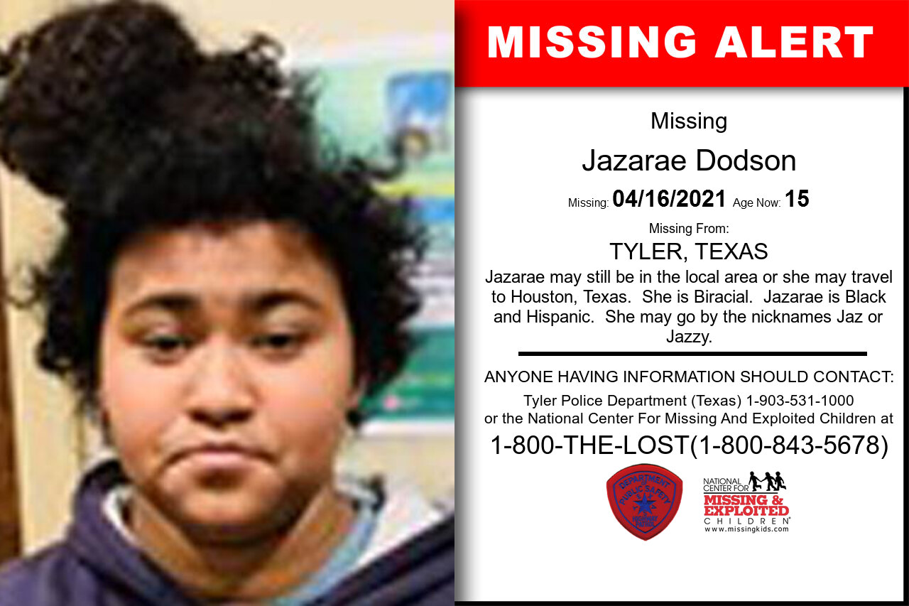 Jazarae_Dodson missing in Texas