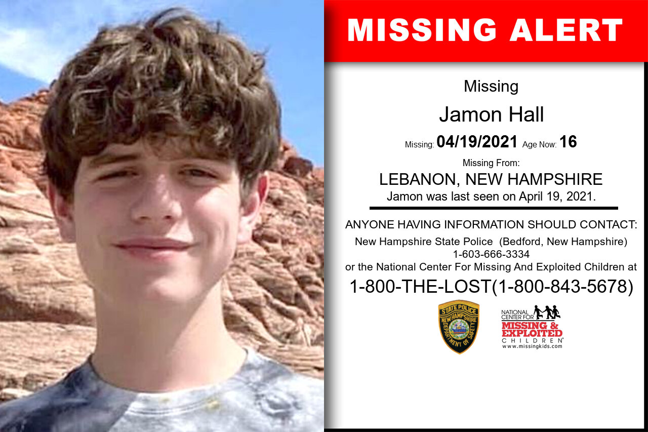 Jamon_Hall missing in New_Hampshire