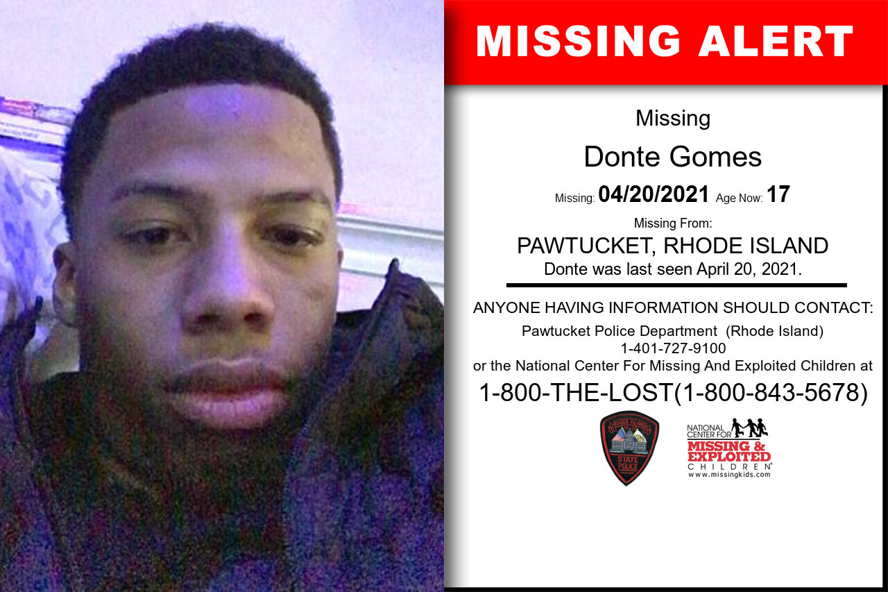 Donte_Gomes missing in Rhode_Island