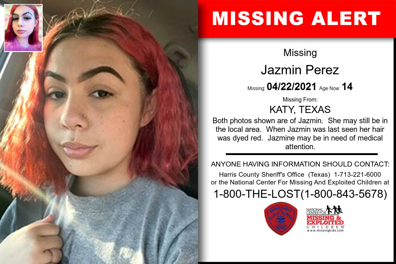 Jazmin_Perez missing in Texas