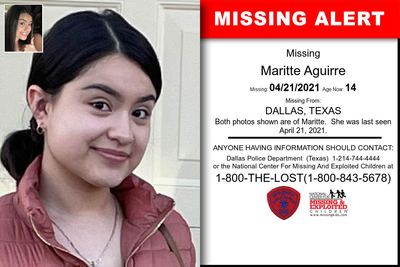 Maritte_Aguirre missing in Texas