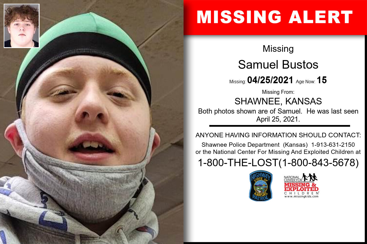 Samuel_Bustos missing in Kansas