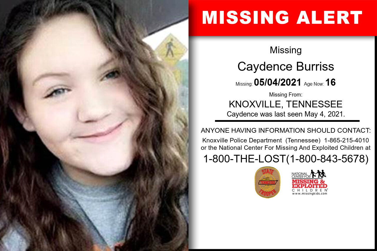 Caydence_Burriss missing in Tennessee