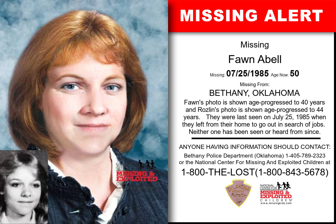 Fawn_Abell missing in Oklahoma