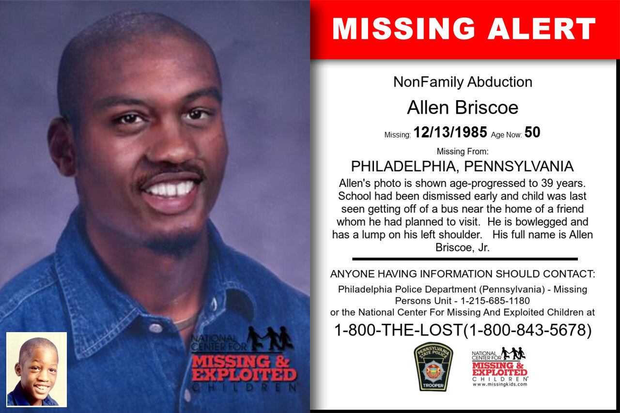 Allen_Briscoe missing in Pennsylvania