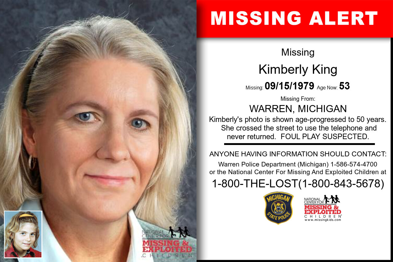 Kimberly_King missing in Michigan