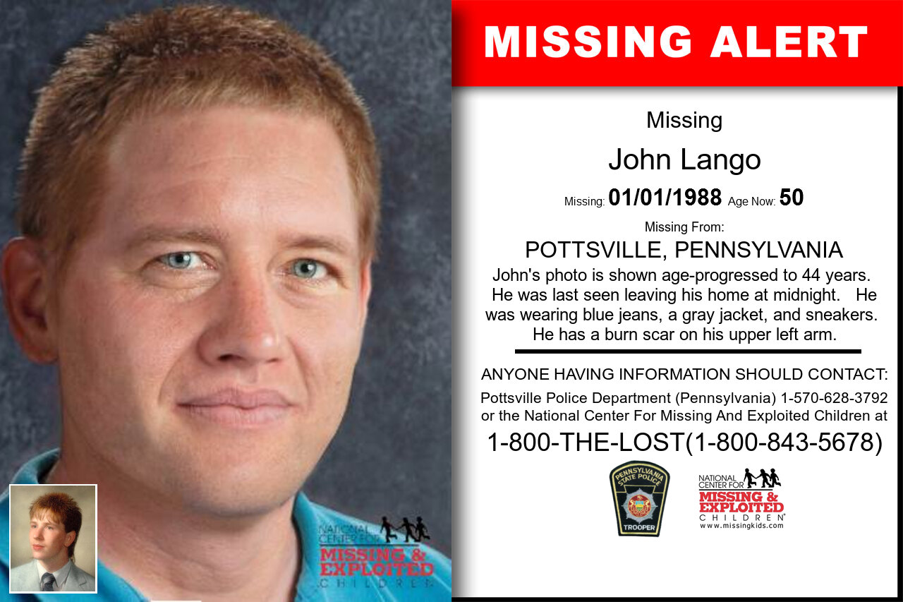 John_Lango missing in Pennsylvania