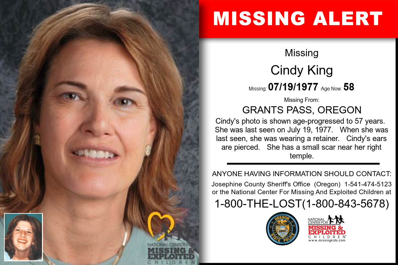 Cindy_King missing in Oregon