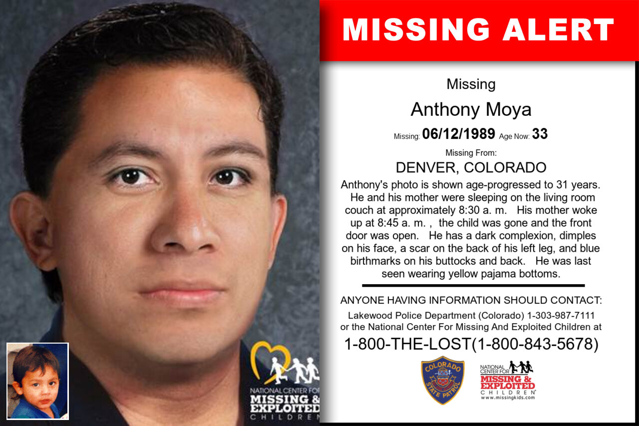 Anthony_Moya missing in Colorado