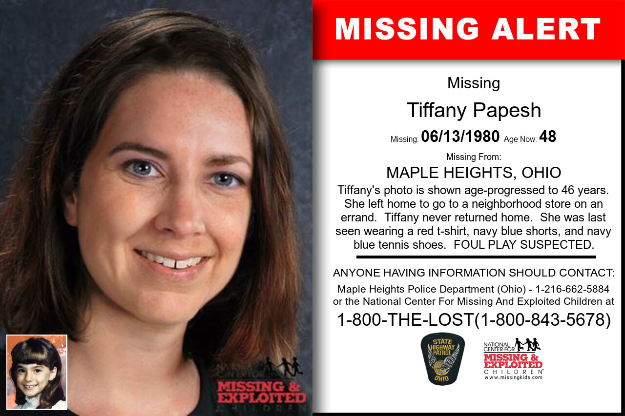 Tiffany_Papesh missing in Ohio