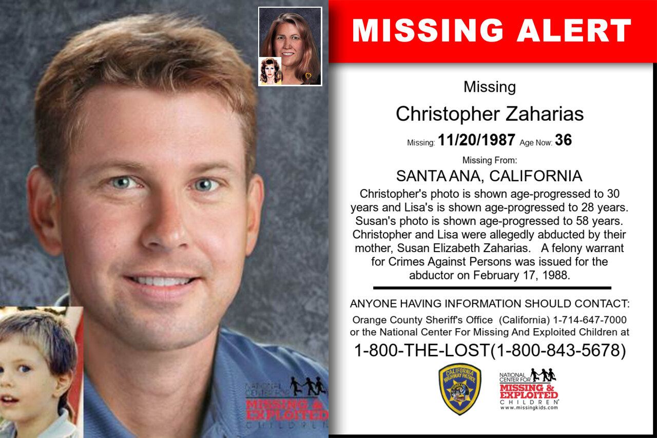Christopher_Zaharias missing in California