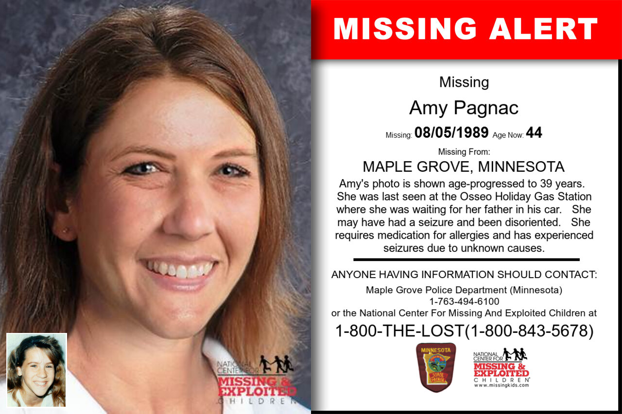 Amy_Pagnac missing in Minnesota