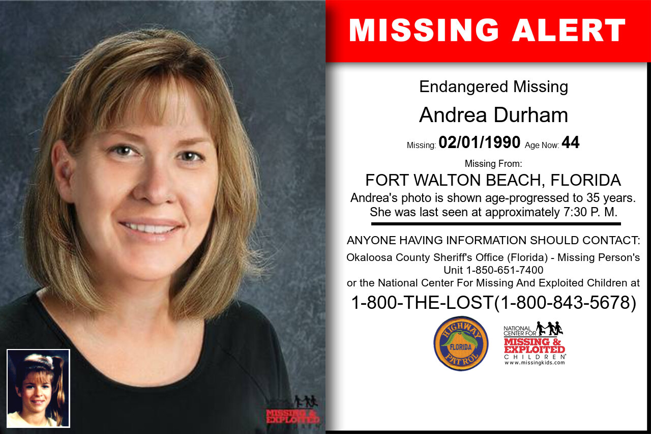 Andrea_Durham missing in Florida