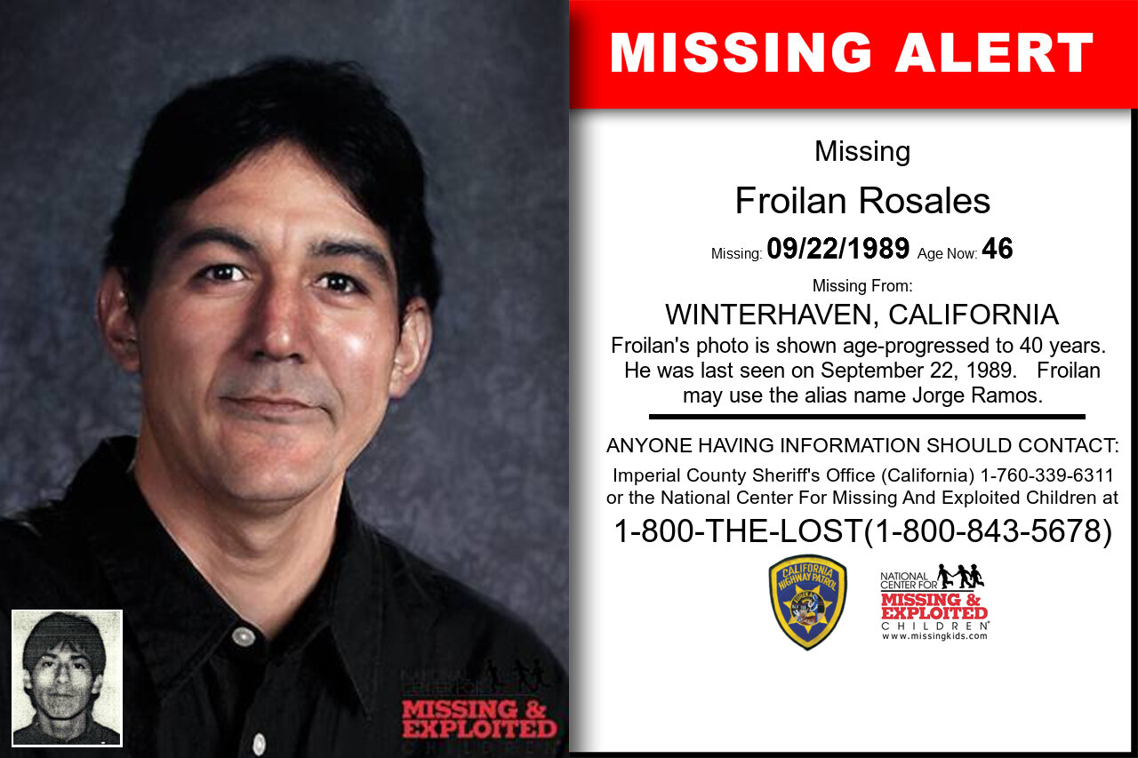 Froilan_Rosales missing in California