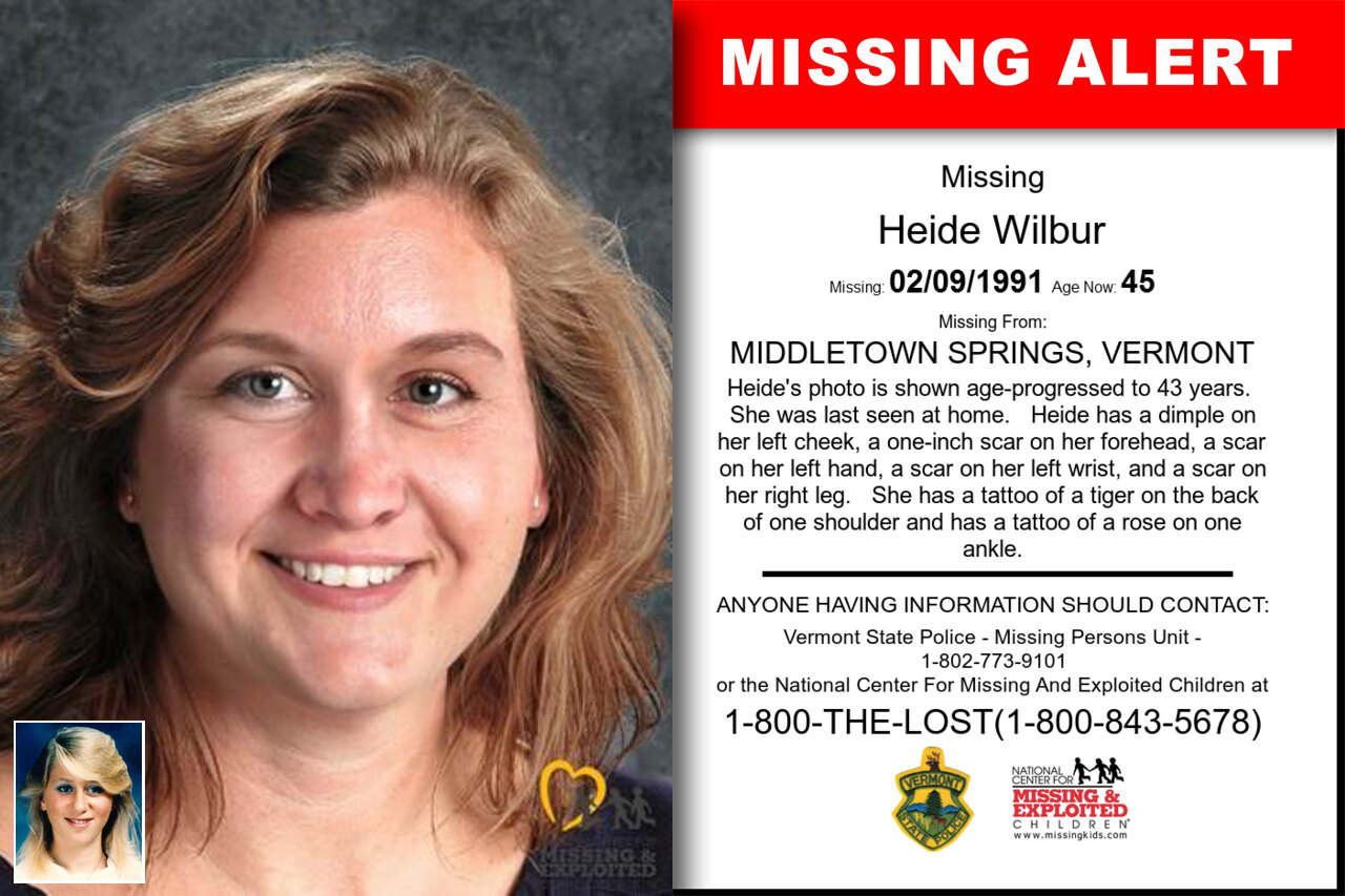 Heide_Wilbur missing in Vermont