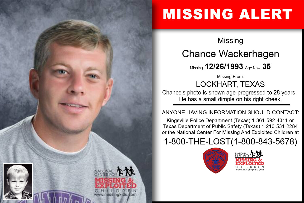Chance_Wackerhagen missing in Texas